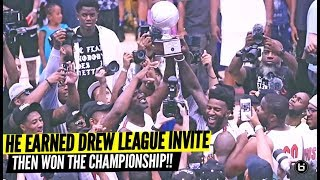 D2 BASKETBALL PLAYER JORDAN STEVENS WIN DREW LEAGUE CHAMPIONSHIP!!