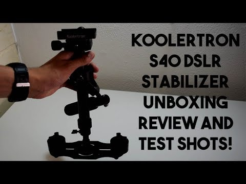 Cheapest stabilizer for DSLR's? Koolertron S40 Stabilizer Unboxing, Review and Test Shots!