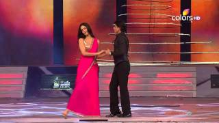 Katrina Kaif Shahrukh Khan KISS in 18th Annual Colors Screen Awards 720p