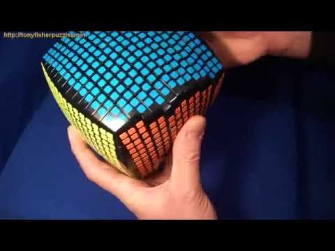 Pseudo 15x15x15 RUBIK'S CUBE Puzzle (with square stickers)