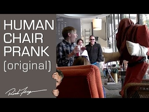 The Human Chair Attack Prank seen on NBC's The Today Show! Watch the Halloween Version: https://www.youtube.com/watch?v=xrQaRQyjQxg http://amzn.to/11QPLz7 - Get our magic/pranks/dating ...