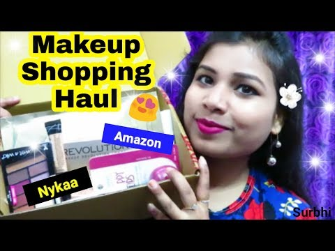 Makeup Shopping Haul || Nykaa ,  Amazon || Makeup & Skincare Shopping Haul || Indian Beauty Surbhi