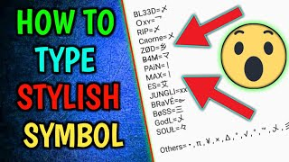 How To Type Stylish Symbol for Clan | Easy way | PUBGM | 2019