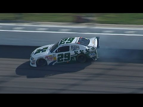 Milka Duno Crash @ 2014 NASCAR Nationwide Kansas