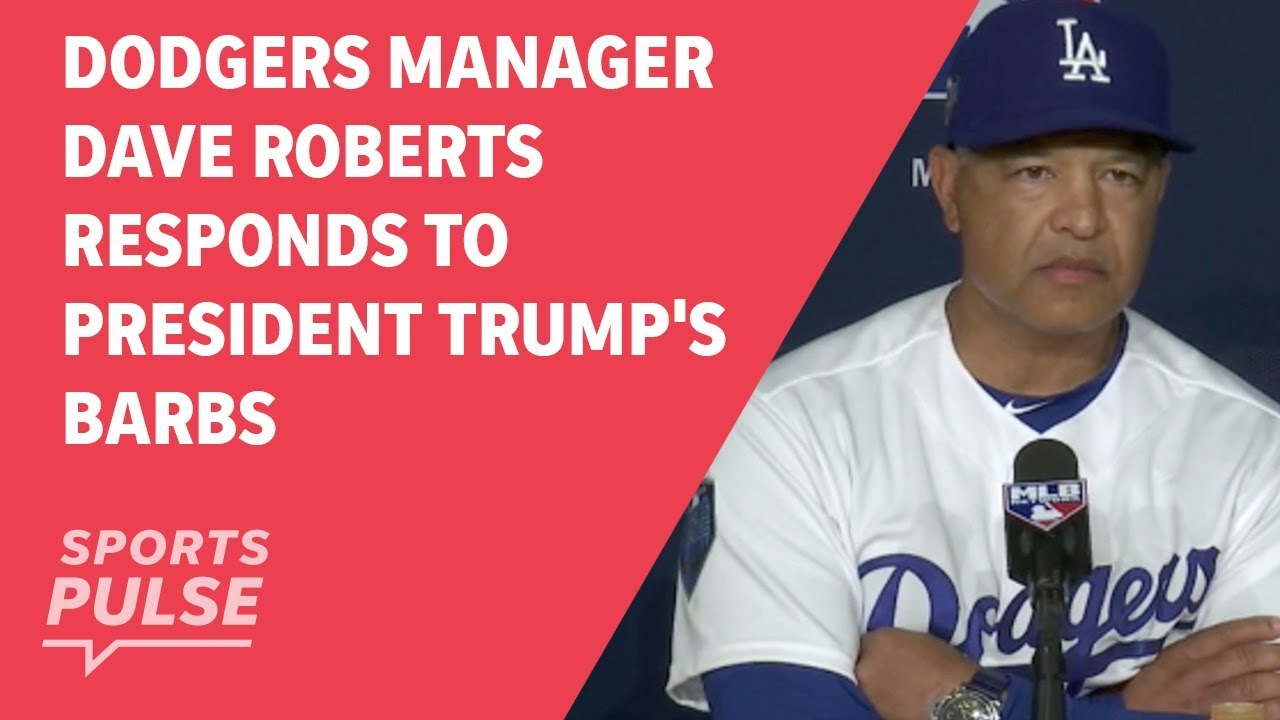 Dodgers manager Dave Roberts responds to President Trump's barbs