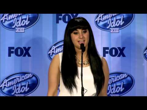 Jena Irene l Backstage at American Idol after the results l FULL INTERVIEW