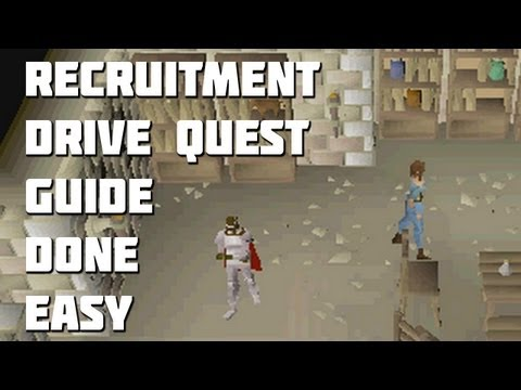 Runescape 2007 – Recruitment Drive Quest Guide – Quest Guides Done Easy – Framed