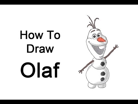 How to draw olaf from frozen youtube