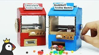 How to Make Miniature Candy Crane Game from Cardboard