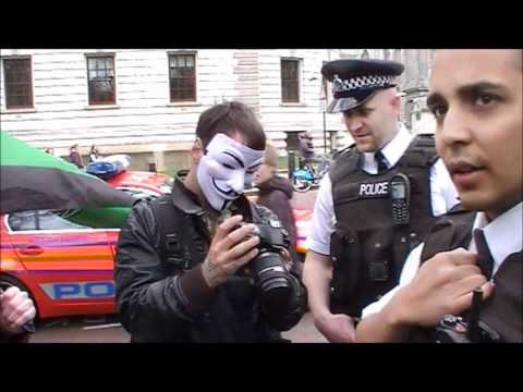Anonymous get asked their NAME by the PO-LICE