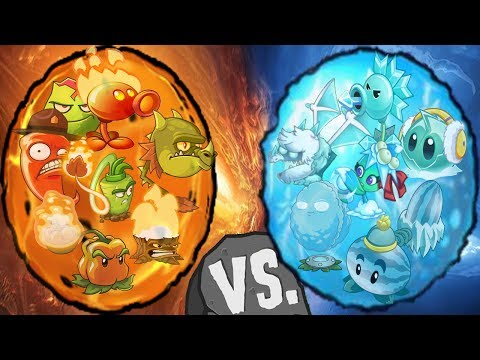 Plants vs Zombies 2 Frie vs ICE ( Plants Max Level Power Up )