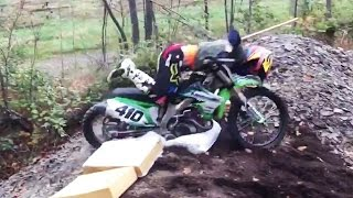 Angry Mom Yelling at Son for Backflipping Dirt Bike