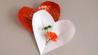Origami Heart-dish  Corazn De Papel