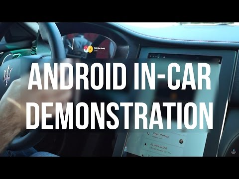 Here's a demonstration of the newest concept for Android in-car