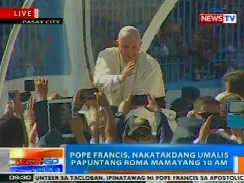 NTG: Pope Francis, nakatakdang bumalik ng Roma ngayong Lunes