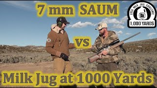7 mm SAUM vs Milk Jug at 1000 Yards - LRSU Milk Jug Challenge Steve Eames
