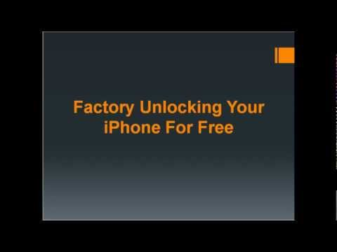 How to Factory Unlock iPhone's For Free