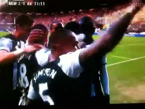 Papiss demba cisse first goal for Newcastle united