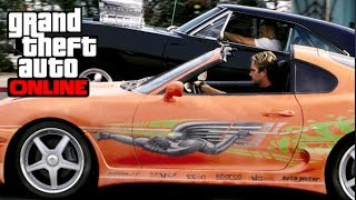 GTA 5 Online - The Fast and The Furious Drag Race! (Dom vs Brian!)