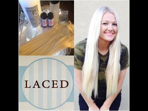 Toning BrassyHair to Ashy Cool Tone Blonde   Laced Hair Extensions  Tutorial