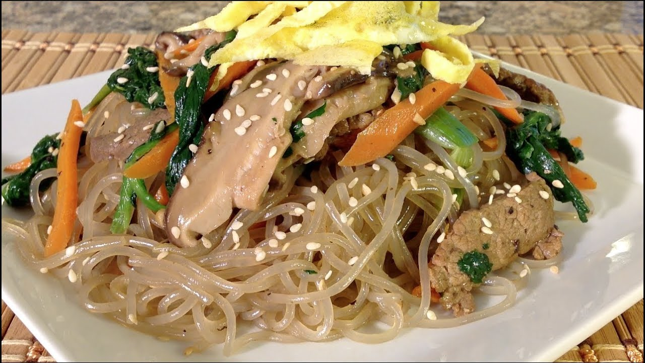 Cooking Japchae-Glass Noodles-