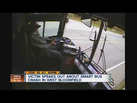 Victim speaks out about SMART Bus crash in West Bloomfield