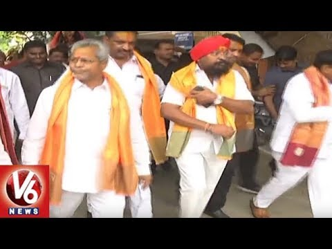 TRS Leaders Participate In Bonalu Festival Celebrations In Karimnagar | V6 News
