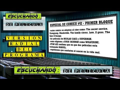 Escuchando: DE PELÍCULA - especial Comics #2 - 1er BLOQUE - Dr. Strange / 2 guns / Marvel / Stan Lee