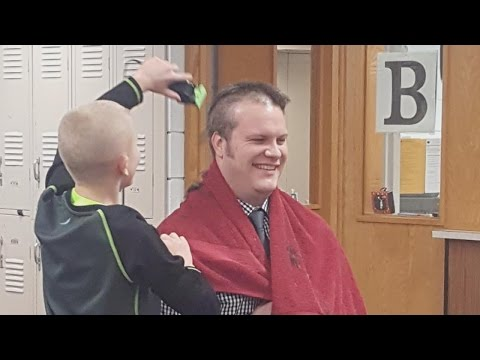 Principal Shaves Head For Bullied 6th Grader Whose Grandfather Has Cancer