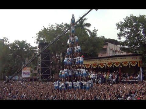 Jai Jawan govinda pathak human pyramid in Thane Dahi Handi 2014...