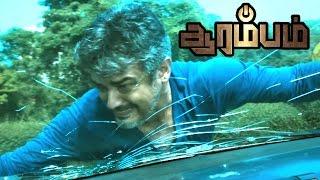Arrambam | Ajith risky stunt | Ajith kills Atul Kulkarni | Ajith, Arya & Nayantara plans to go Dubai