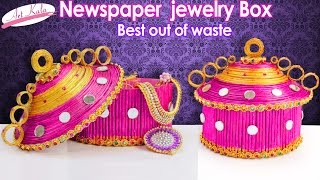 How to Make jewelry box | Made up of Newspaper | Best out of waste | DIY | Artkala 121