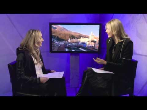 Maria Sharapova Chats with Liukin Sochi 2014