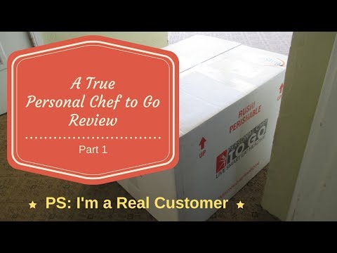 Personal Chef to Go Reviews Video Part 1 - UNBOXING