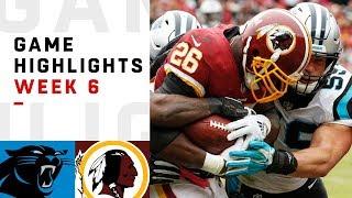 Panthers vs. Redskins Week 6 Highlights   NFL 2018