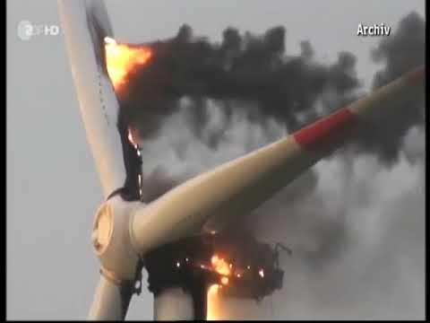 Energiewende Windräder brennen oft weil die Eigentümer an der Wartung sparen!