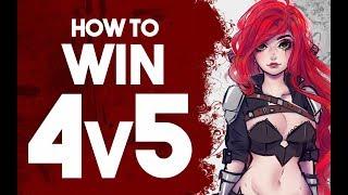 Katlife   HOW TO WIN A 4v5 - SUPER INFORMATIVE KATARINA GAMEPLAY