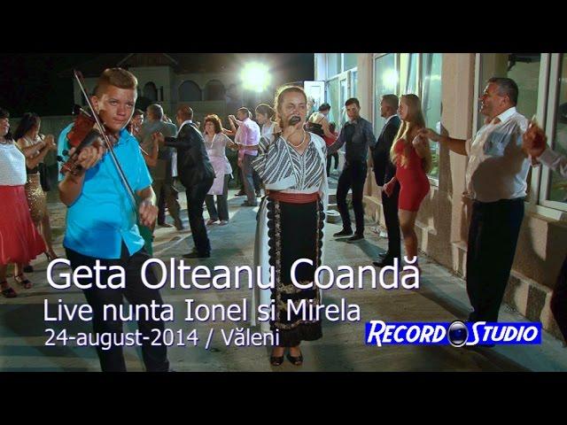 Geta Olteanu Coanda (colaj SARBA) LIVE nunta Ionel si Mirela / Valeni 24-08-2014