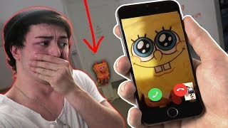CALLING SPONGEBOB ON FACETIME AT 3 AM | DO NOT FACETIME SPONGEBOB AT 3 AM *THIS IS WHY*