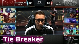 Flash Wolves vs TSM | Tie Breaker LoL MSI 2017 Group Stage | FW vs TSM Decider