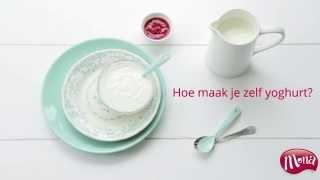 zelf yoghurt maken met bloemetjes