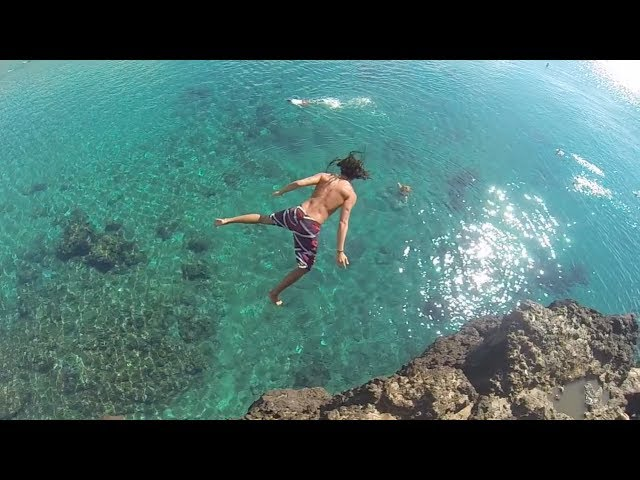 Cliff Jumping into 2014 - Maui Barefoot Ninjas