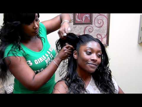 3 Girls and a Needle Braidless Sew-In procedure called