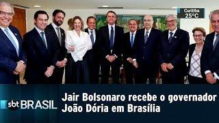 Jair Bolsonaro recebe o governador João Dória em Brasília | SBT BRASIL (10/01/19)