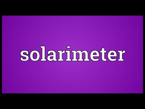 Header of solarimeter