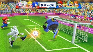Mario & Sonic At The London 2012 Olympic Games Football Sonic, Peach, Silver and Blaze
