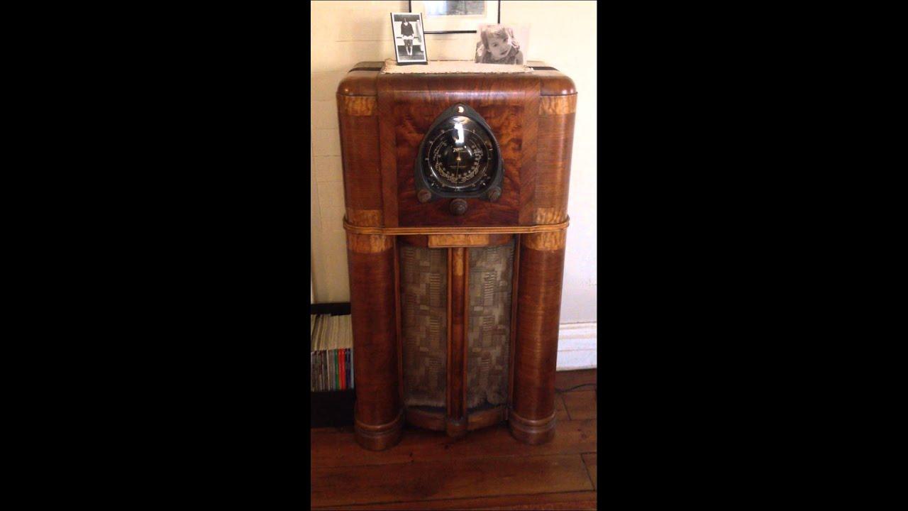 Antique Zenith Floor Radio 1938 Zenith Floor Model Radio