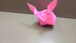 Daily Origami: 072 - Round Rabbit