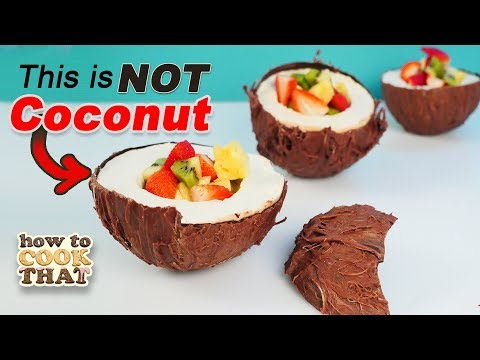 Chocolate Coconut Dessert that looks real Coconut No Mold Challenge How To Cook That Ann Reardon