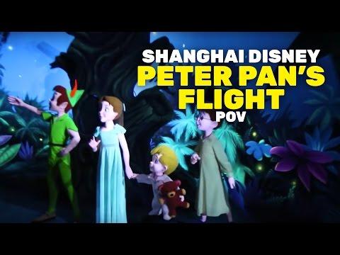 NEW FULL Peter Pan's Flight ride at Shanghai Disneyland